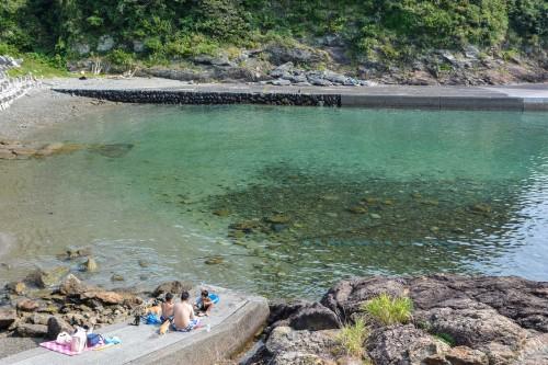 A beach at Cat island Fukashima, Oita prefecture, Kyushu.
