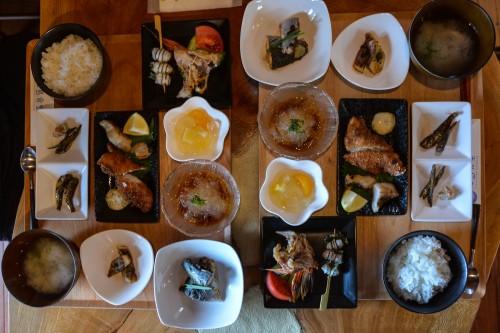 The gorgeous lunch at Cat island Fukashima, Oita prefecture, Kyushu.