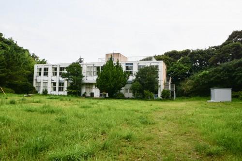Abandoned School on Cat island Fukashima, Oita prefecture, Kyushu.