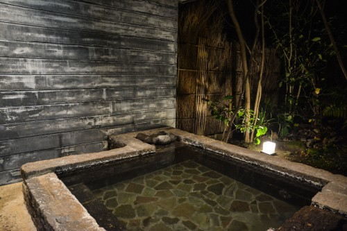 The hot springs at Mifuneyama Kanko Hotel, Saga prefecture, Kyushu.