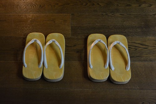 The Zoori, room shoes at Mifuneyama Kanko Hotel, Saga prefecture, Kyushu.