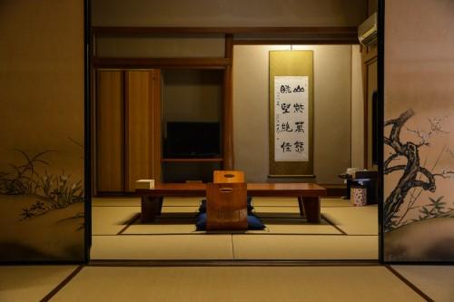 The tatami room at Mifuneyama Kanko Hotel, Saga prefecture, Kyushu.