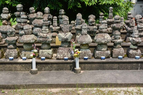 The stone statues at Takeo onsen, Saga prefecture, Kyushu.
