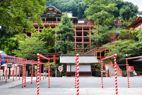 Some special decoration for summer festival, at Yutoku inari shrine One of the Three Largest Shrines Dedicated to Inari in Japan.