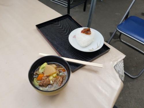 Lunch at Yamakoshi, Niigata prefecture, Japan.