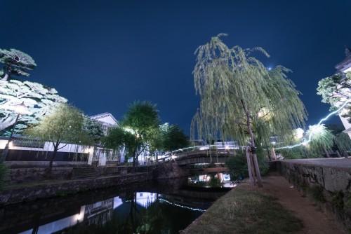 Kurashiki Bikan Historical Quatier in Okayama prefecture, Japan.