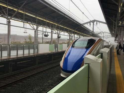 JR Hokuriku Shinkansen bound for Karuizawa from Tokyo.