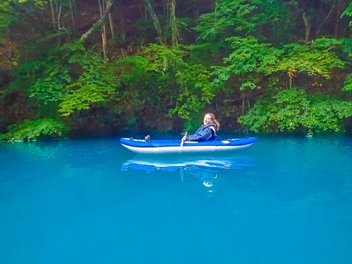 Canoeing in Shima river full of natures and have outdoor activities in Gunma prefecture.
