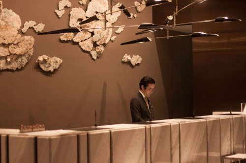 The front desk at The Prince Gallery Tokyo Kioicho