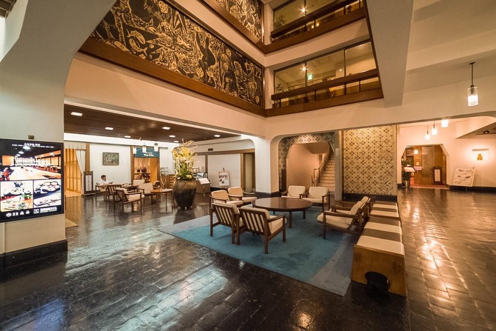 Kurashiki Hokusai Hotel near Kurashiki Bikan Historical Quatier in Okayama prefecture, Japan.