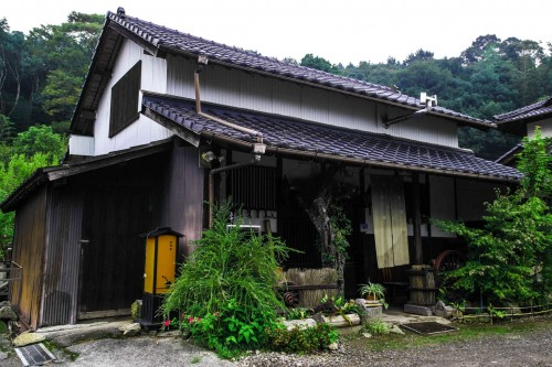 "the farmer's homestay 'Kominka ""Gallery"" Minka 'in Usa city, Oita prefecture, Kyushu, Japan."