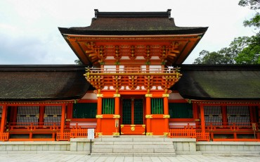 Usa Jingu Shrine is a national treasure of Japan lies within Usa, Oita.