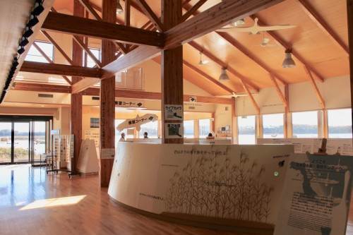 Inside the Information Centre at Lake Tofutsu