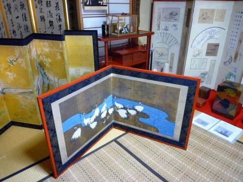 Folding screen festival in Murakami city.