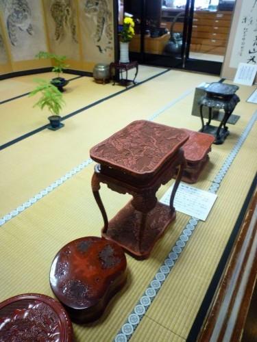 Kokonoe-en's art collection on display.