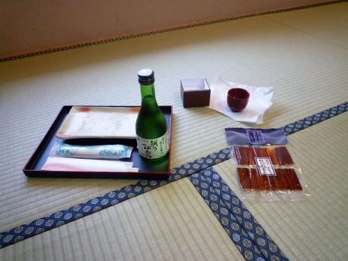 Murakami sake and salmon.