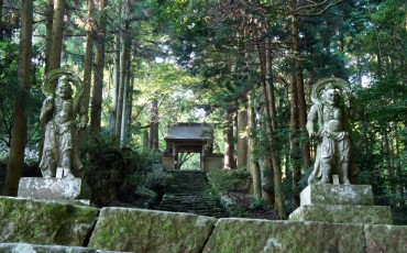 Futago-ji temple where we can see Rokugo Manzan culture, Oita, Kyushu, Japan.
