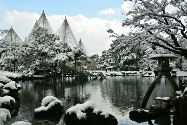 Kenroku-en Garden, Hokuriku area, Japan.