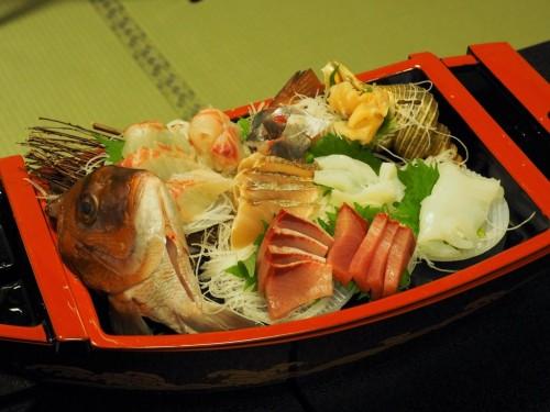 Kaiseki meal in Himi city, Toyama, Japan.