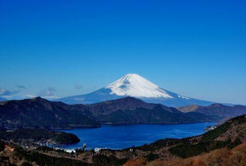 Lake Ashi from Komagatake.