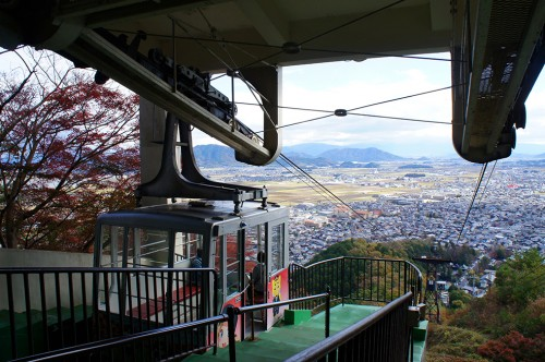 Mt. Hachiman, which stands between the city and Lake Biwa, Shiga Prefecture, Japan.