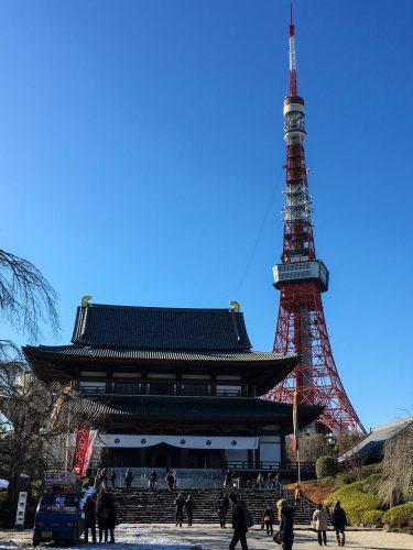 Zojo-ji Temple in Tokyo, Japan.