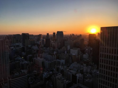 WTCB Observatory, the best view in Tokyo, Japan.