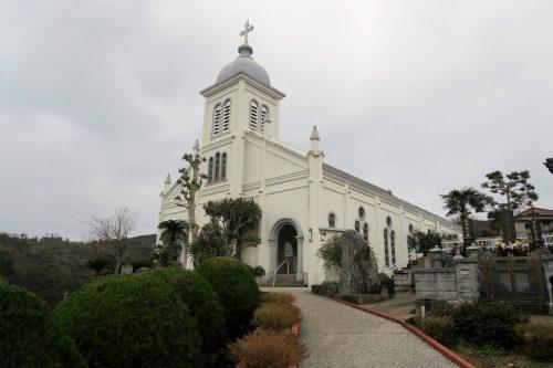 O-e Tenshudo church at the coastal scenery of Amakusa islands in Kumammoto, Kyushu, Japan.