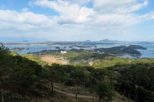 Senganzan Observatory at the coastal scenery of Amakusa islands in Kumammoto, Kyushu, Japan.