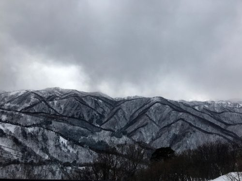 Powder Snow Skiing in Japan at Yonezawa City, Yamagata Prefecture.