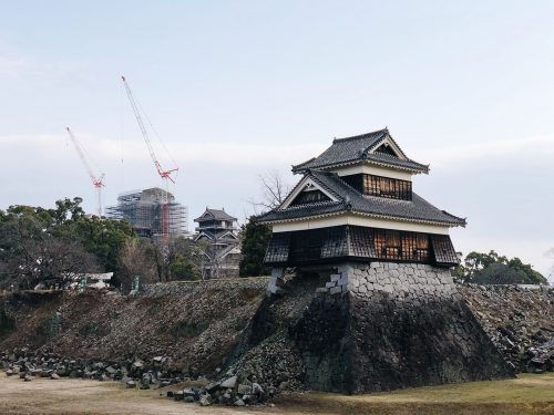 Kumamoto Castle in the heart of Kumamoto city to rebuild for the Tokyo Olympics 2020.