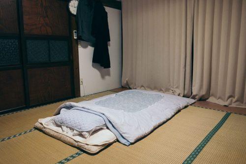 Tatami and Futon in Farm House Taken Village Niigata Prefecture