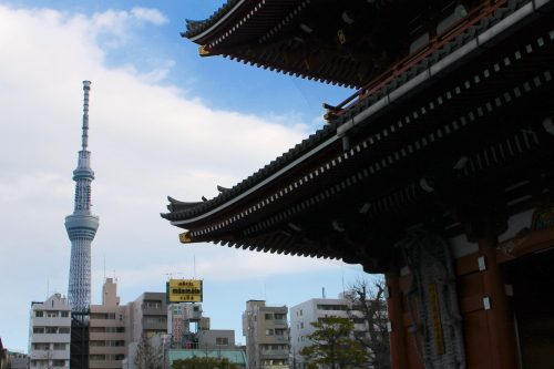 Sensoji Temple and Tokyo Skytree.