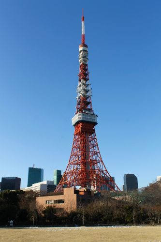 Tokyo tower in Shiba Park