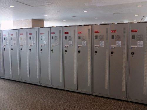 Ski-lockers at the Naeba Prince Hotel