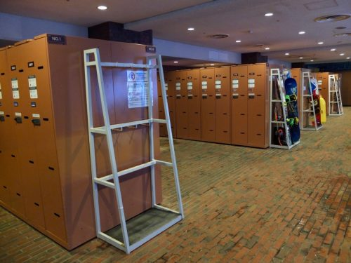 Ski lockers at the Naeba Prince Hotel