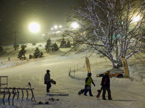 Night Skiing at the Naeba Ski Resort.