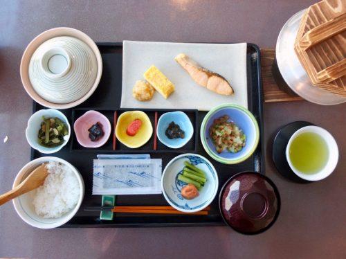 Japanese style breakfast at the Matsukaze Restaurant, Naeba Prince Hotel.