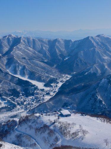 Top of Takenokoyama Mountain at Naeba Ski Resort