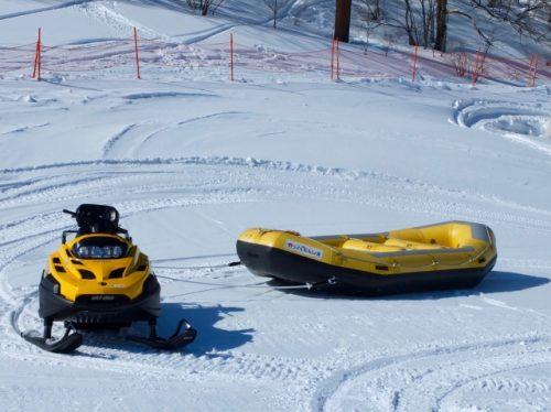 Snow-rafting at the Kappa Club, Naeba Ski Resort.
