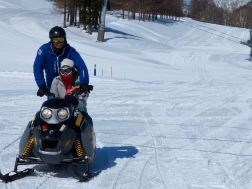 Snow mobile at Naeba Ski Resort.