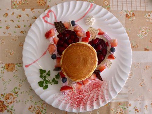 Strawberry Pancakes, made fresh, at the Restaurant Azalea, Naeba Prince Hotel.