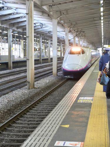 Joetsu Shinkansen at Echigo-Yuzawa Station.