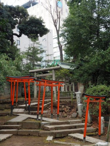 Nezu Shrine at Yanesen area  in Tokyo, Japan.