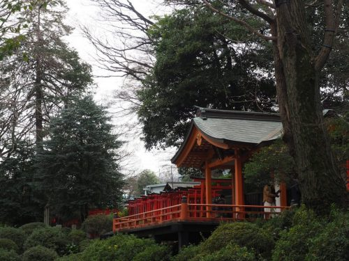 Nezu Jinja  at Yanesen area  in Tokyo, Japan.