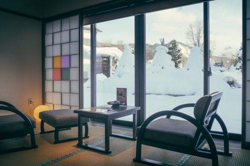 Yonezawa Onsen Ryokan Snow Covered Terrain in Yamagata Prefecture