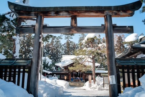 Uesugi Shrine for Samurai on Yonezawa City Castle Ruins