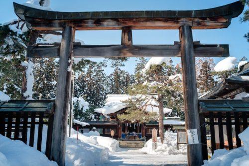 Uesugi Shrine for Samurai on Yonezawa City Castle Ruins