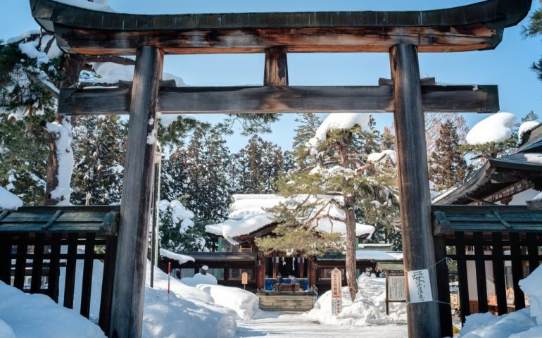 Useugi Shrine to Samurai at Yonezawa Castle in Yamagata Prefecture