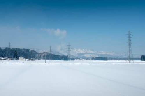 Winter Snowfall Scenery in Yamagata Countryside